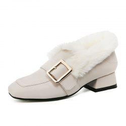 Wool Shoes Fashion Belt Buckle Fashion Versatile Mueller Shoes Cotton Shoes -