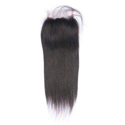 Lace Closure Peruvian Human Hair Pre-Plucked Lace Cloure With Baby Hair -