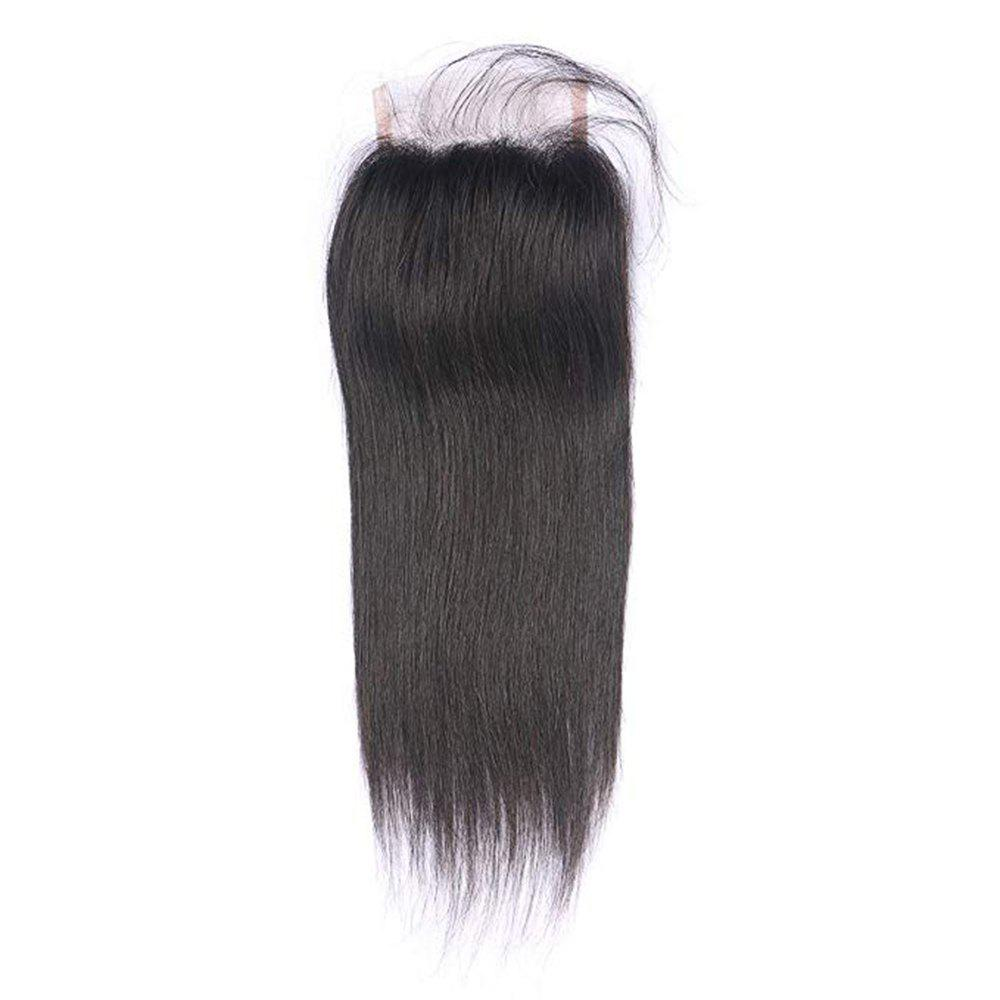 Online Lace Closure Peruvian Human Hair Pre-Plucked Lace Cloure With Baby Hair