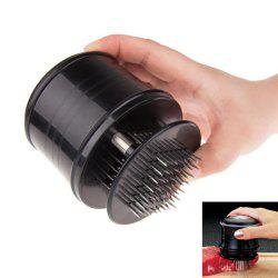 Cooking Tool Professional Needle Meat Tenderizers Stainless Steel Blades(Black) -