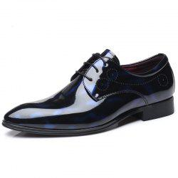 COSIDRAM Men'S Leather Shoes Glossy Patent Leather Shoes Belted Formal Shoes -