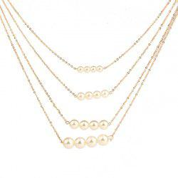 Noble and Elegant Women's Four-Layer Pearl Necklace -