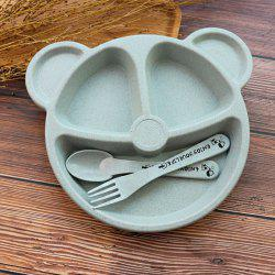 Creative Household Tableware Baby Compartment Plate Breakfast Plate -