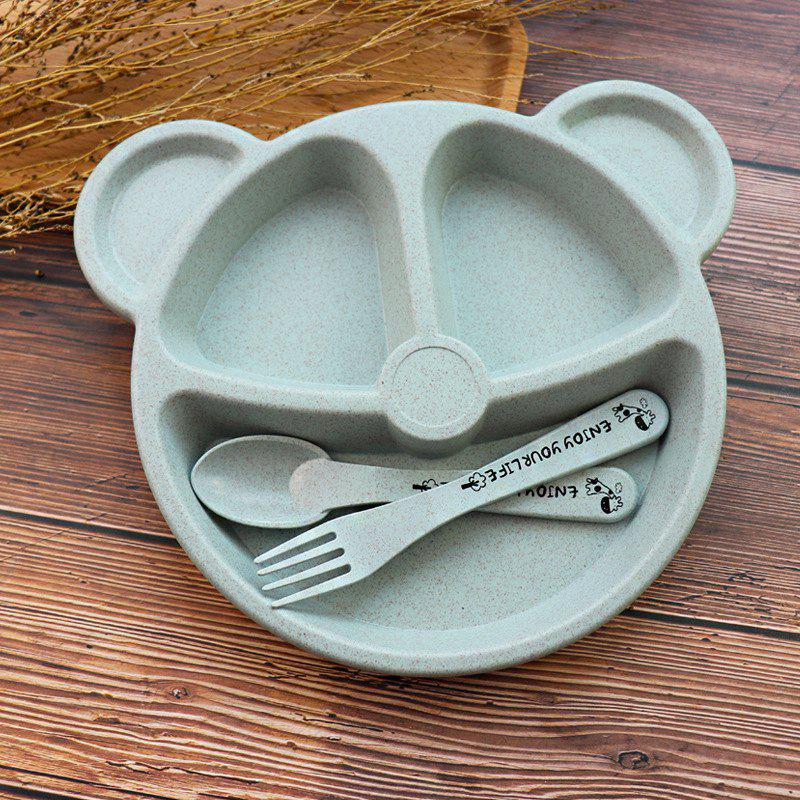 Shops Creative Household Tableware Baby Compartment Plate Breakfast Plate