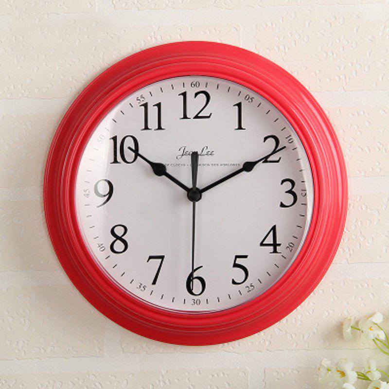 Fashion Contracted Sitting Room Bedroom Home Round Clock Wall Clock Battery Digital Cloc