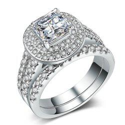 Charhoden Zirconium 925 Silver Gorgeous Fashion Couple Pair of Rings -