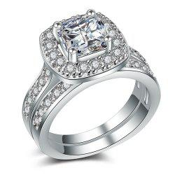 Charhoden Women'S Plated 925 Silver Cubic Zirconia Cut Ring -
