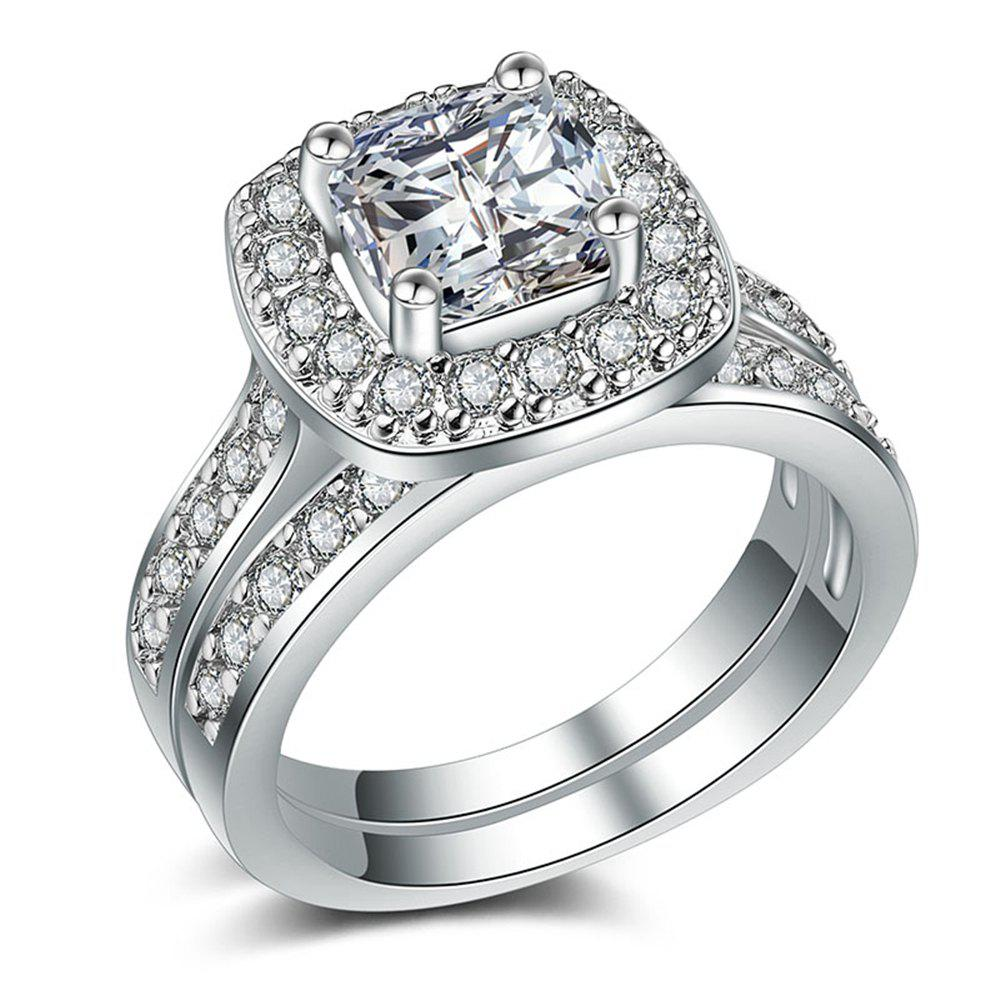 Shop Charhoden Women'S Plated 925 Silver Cubic Zirconia Cut Ring