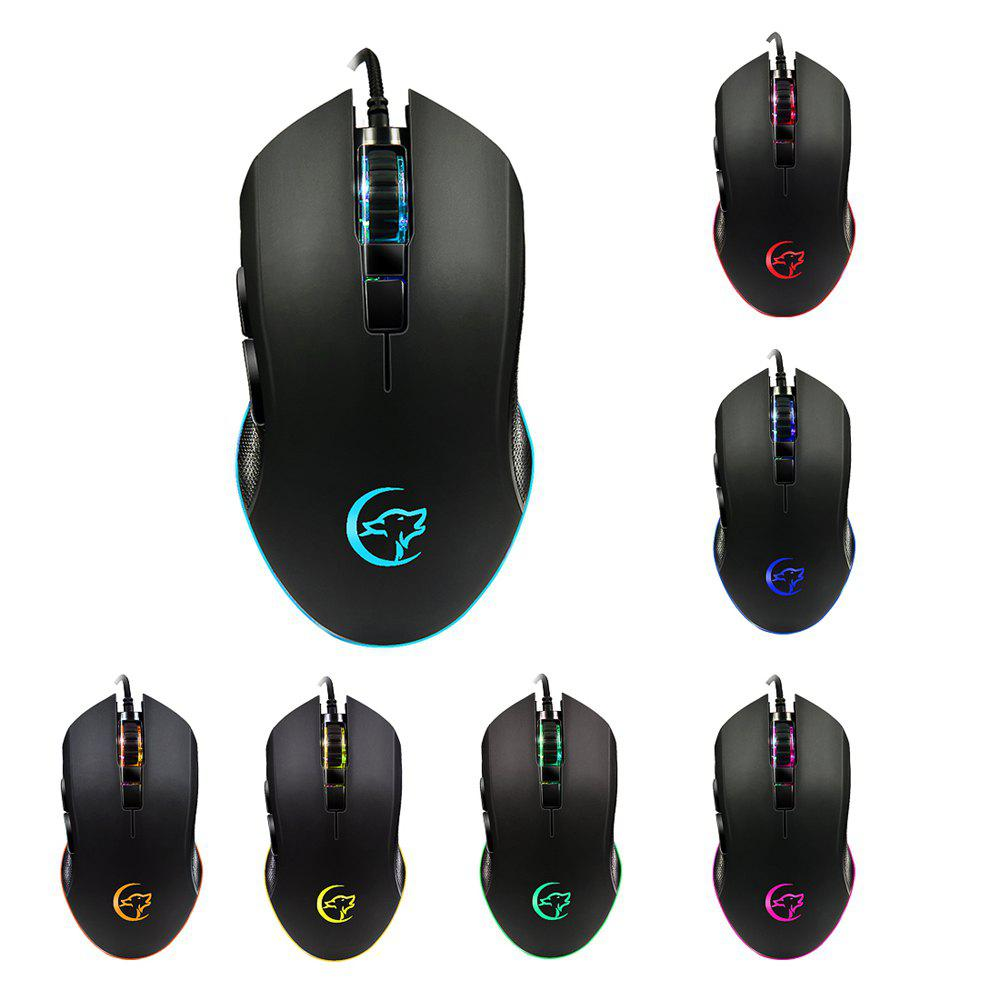 Bild von YWYT G812 game mouse dazzling color breathing lights cable game mouse ergonomic