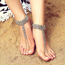 Exaggerated Alloy Engraving Anklet -