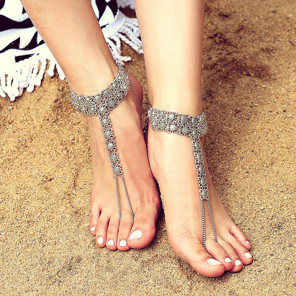 Discount Exaggerated Alloy Engraving Anklet