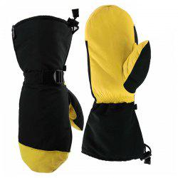 OZERO Winter Leather Long Section Warm Skiing Cold Waterproof Windproof Gloves -