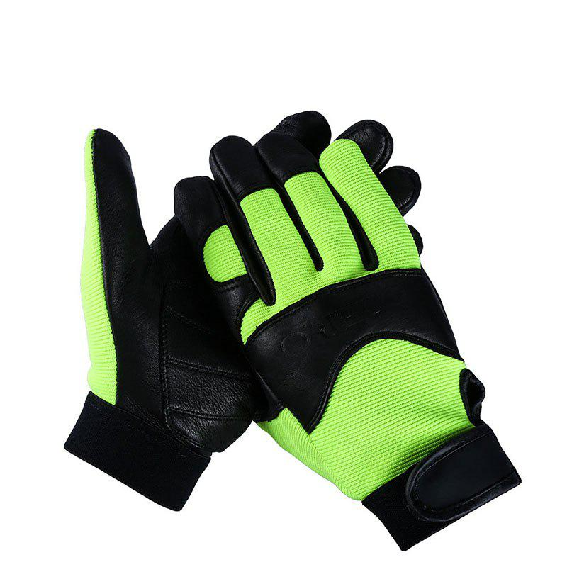 Hot OEZRO Buckskin Half Skin Fitness Outdoor Sports Harley Gloves