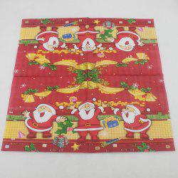 Printed Christmas Party Napkin -