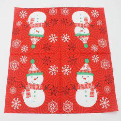 Color Printed Christmas Party Napkin -
