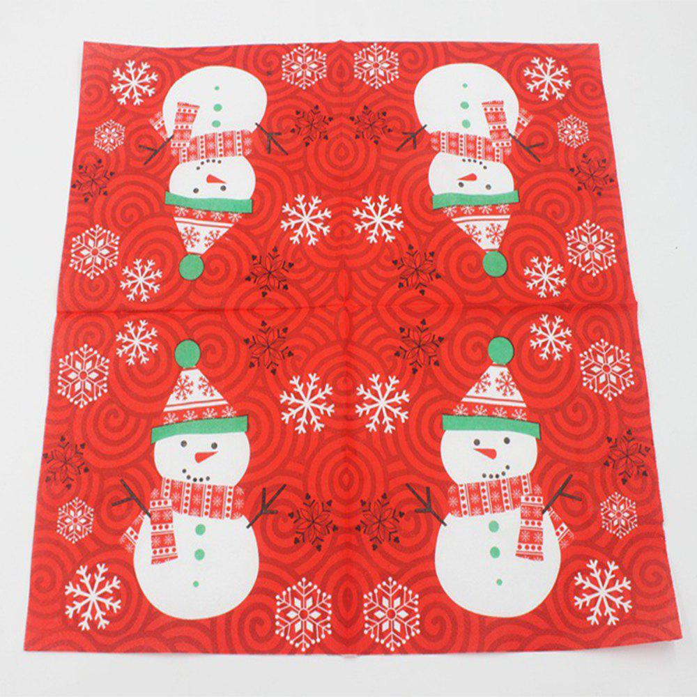 Shops Color Printed Christmas Party Napkin
