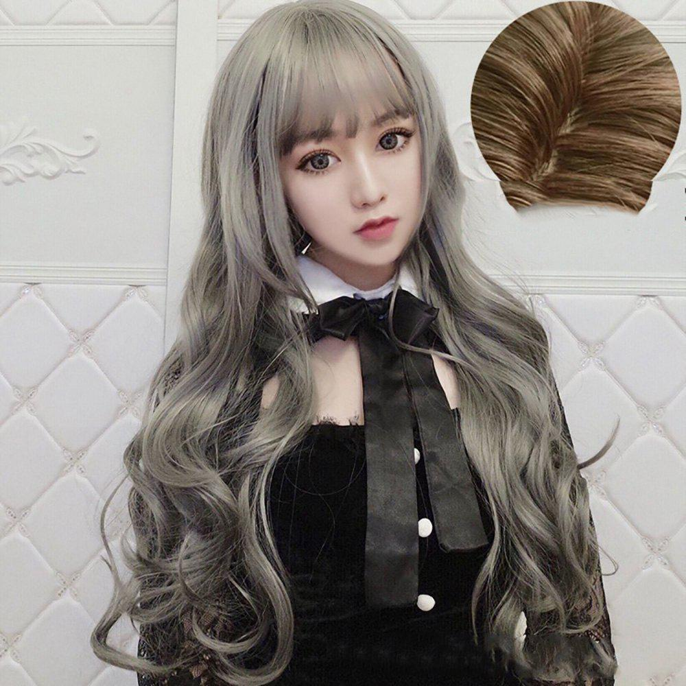 Outfit Stylish Long Curly Air Bangs for Women