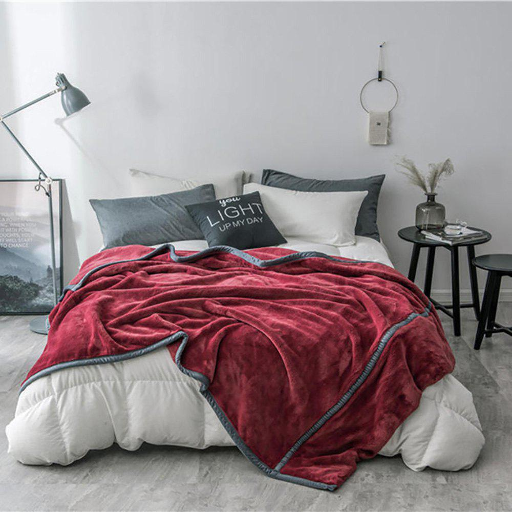Trendy Luxury High Quality Flannel Blanket Reactive Printing