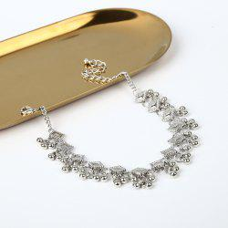 Simple Alloy Beaded Anklet -