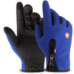 Outdoor Sports Zipper Gloves with Warm and Velour -