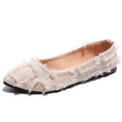 Shallow Pointed Flat Sole Womens Shoes -