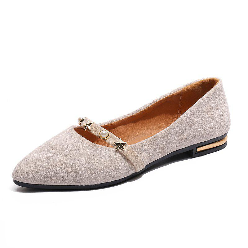 Trendy Lowheeled Work Shoes Pointed Single Shoes