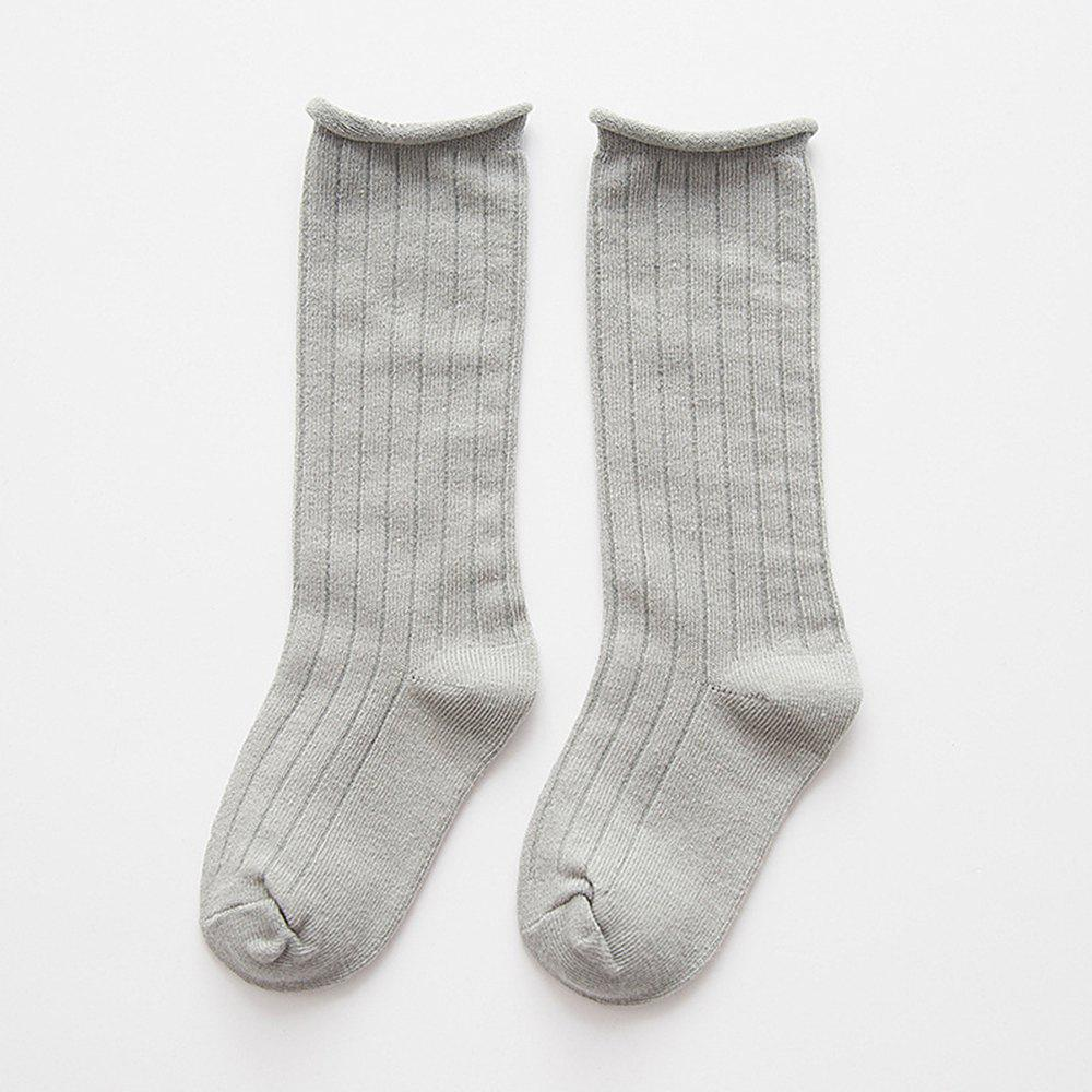 d67211877 Hot Children S Cotton Spring and Autumn Wide Striped Candy Color Tube Pile  Socks