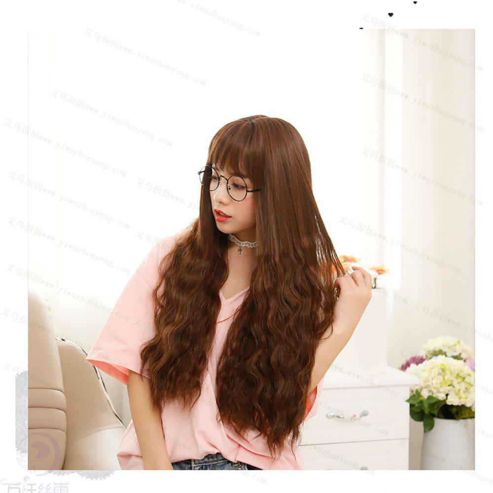 Trendy Fashion Long Curly Bangs and Corn Perm Wig