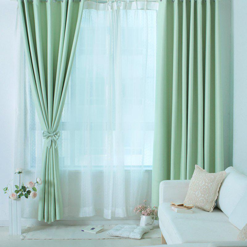 Cheap Living-Room and Bed Room Pure Color Curtain from Jinsehuanian 1PCS