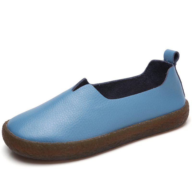 New Genuine leather women flat shoes Comfortable Spring/Autumn Oxfords Hook