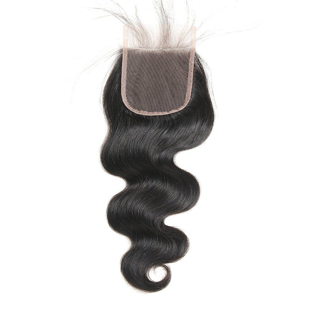 Hot Indian Body Wave Lace Closure Free Part Human Hair Closure