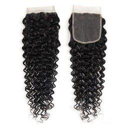 Peruvian Human Hair Extensions Deep Curly 4X4 Inch Lace Closure -