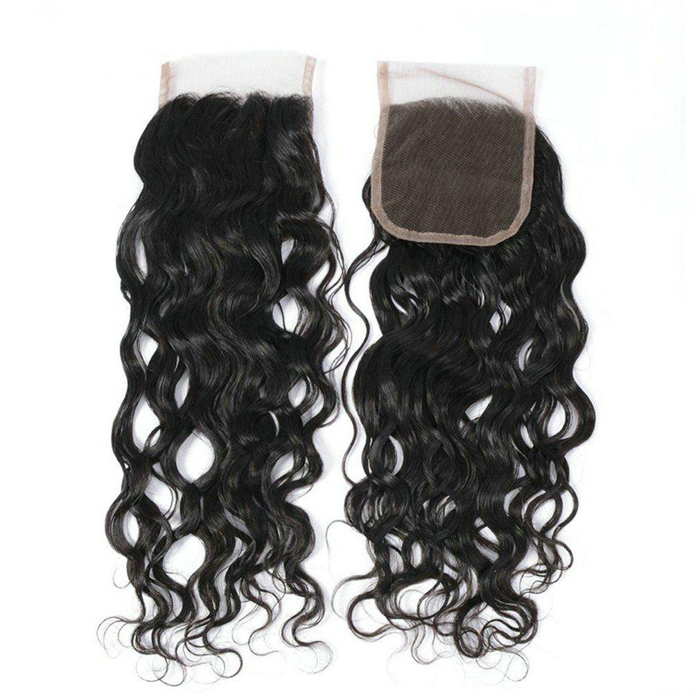 Shops Brazilian Human Hair Extensions Water Curly Hair 4X4 Inch Lace Closure