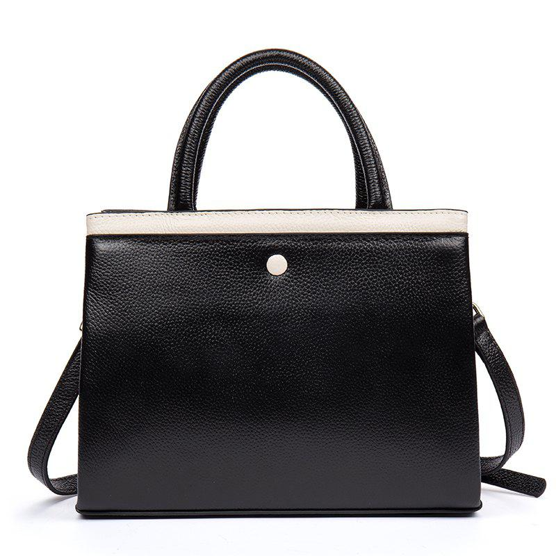 Best Cowhide on The Head. Retro-Colored Lady Handbag Chic