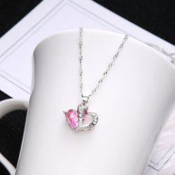 Fashion Personality Micro Love Double Heart Pendant Love Heart-Shaped Necklace -