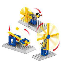 3 in 1 Mechanical Building Blocks Windmill Model Collection MOC Brick Toys Gift -
