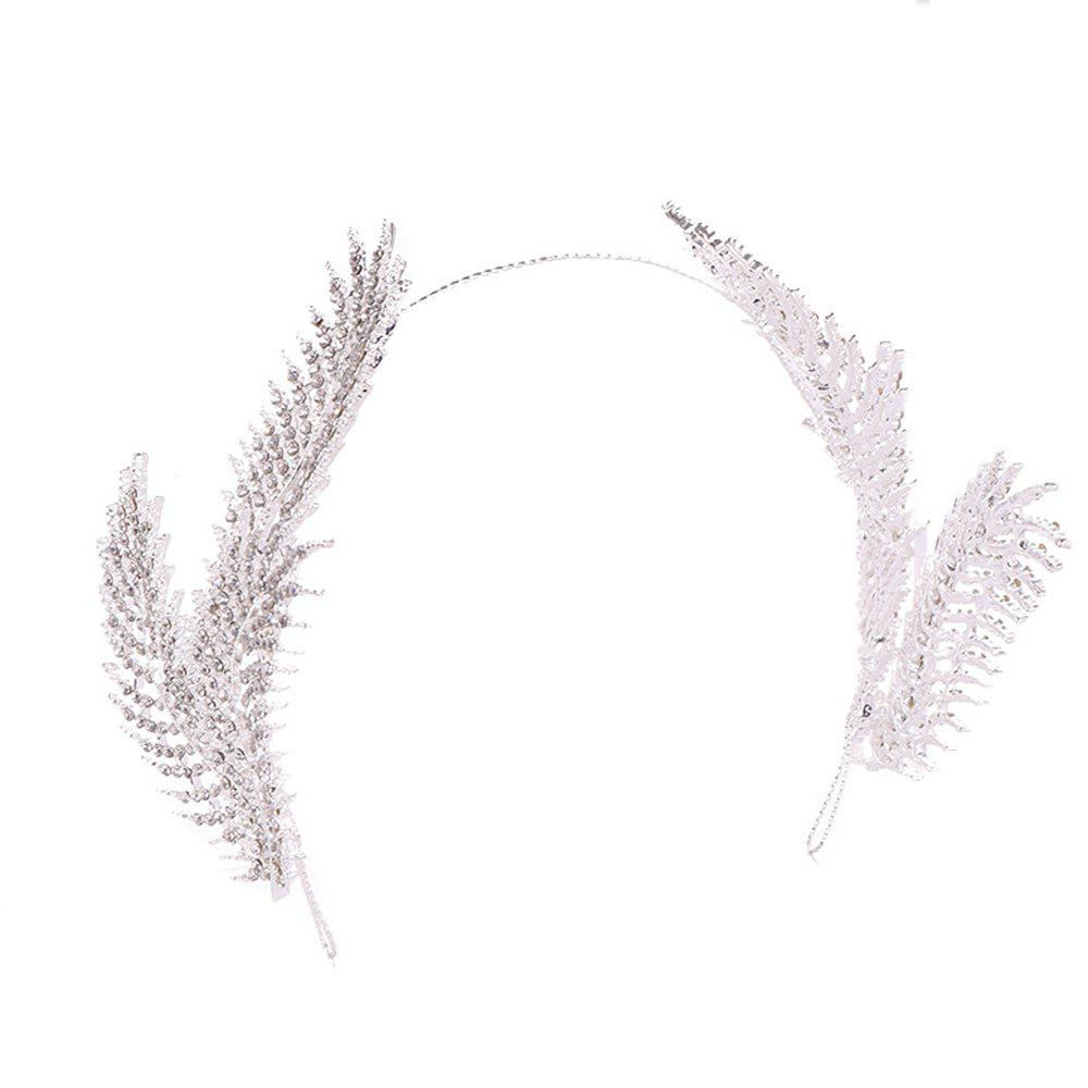 Fancy New Feather Imperial Crown Head Ornaments Decorate