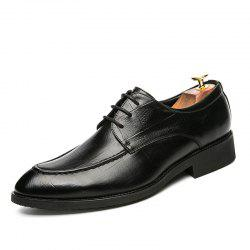 Fashion Leather Shoes with Tie -