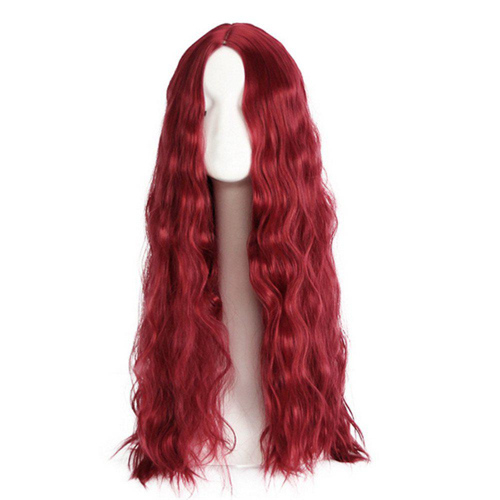 Online Synthetic Hair Lace Front Wig for Women Loose Wave Density Pre Plucked Hairline