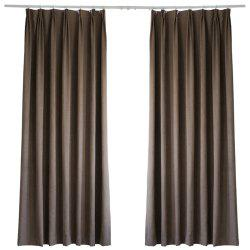 Living-Room and Bed Room Pure Color Shade Curtain from Jinsehuanian 1PC -