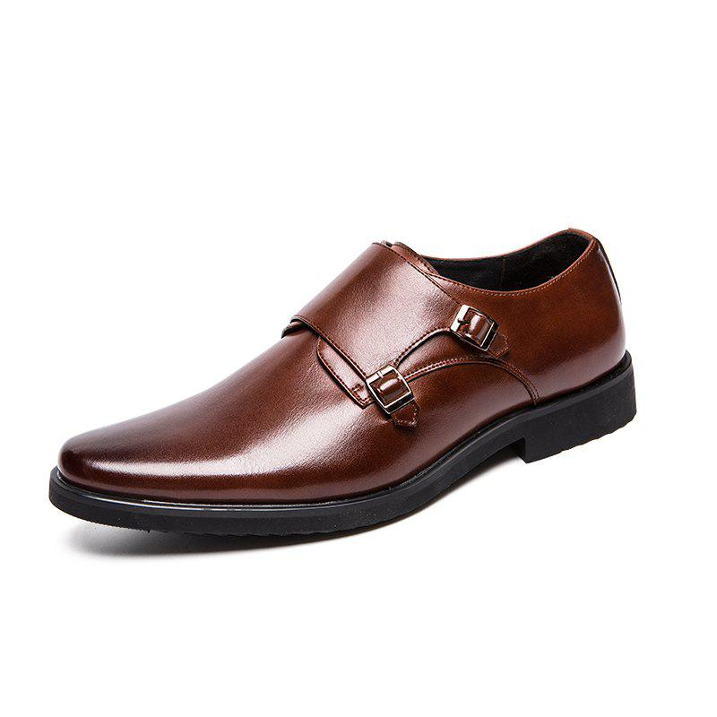 Latest Men'S Leather Casual Shoes Fashion Lace-Up Oxfords Comfortable Split Leather