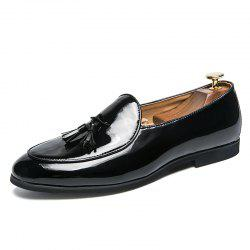 Italian Style Men Dress Loafers Tassel Formal Business Brand Oxfords Shoes -