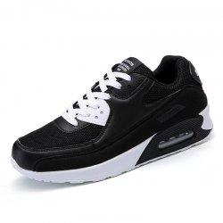 Air Cushion Woman Sport Sneakers Woman Sports Shoes Black Mesh Running Shoes -