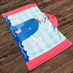 Formaldehyde-Free Children Can Wear Cotton Hooded Bath Towel Cloak Beach Towel -