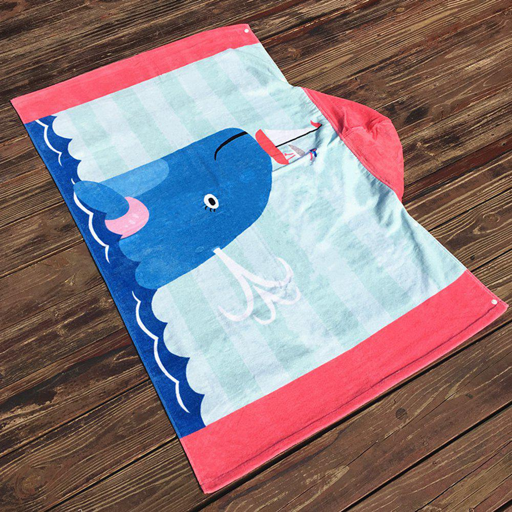 Best Formaldehyde-Free Children Can Wear Cotton Hooded Bath Towel Cloak Beach Towel