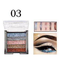 LADY QUEEN 5 Colors Eye Shadow Lasting Powder Metallic Eyeshadow Palette -