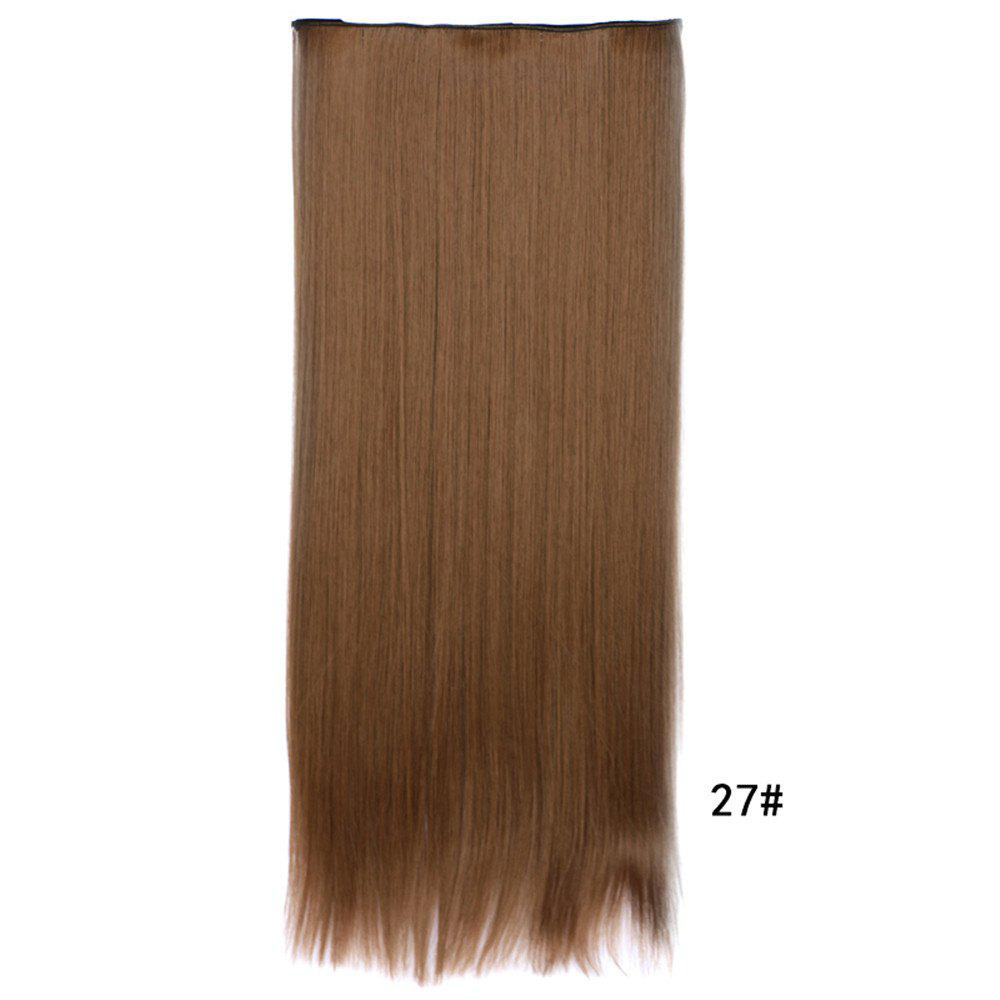 Fashion 70CM Five-Card Straight Hair Extension Clip Synthetic Wig for Women 2abc160040