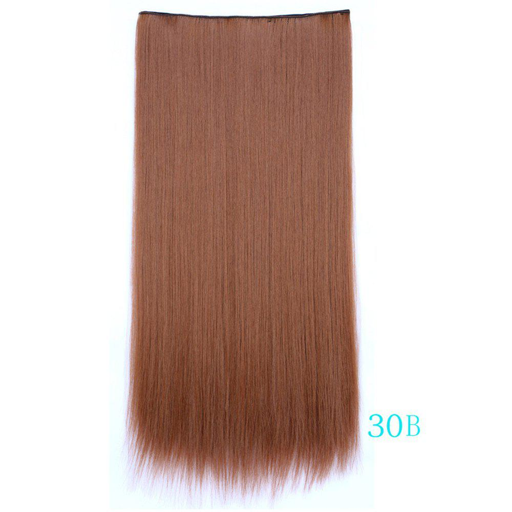 2019 70cm Five Card Straight Hair Extension Synthetic Wig For Women ... a7bf58cae4