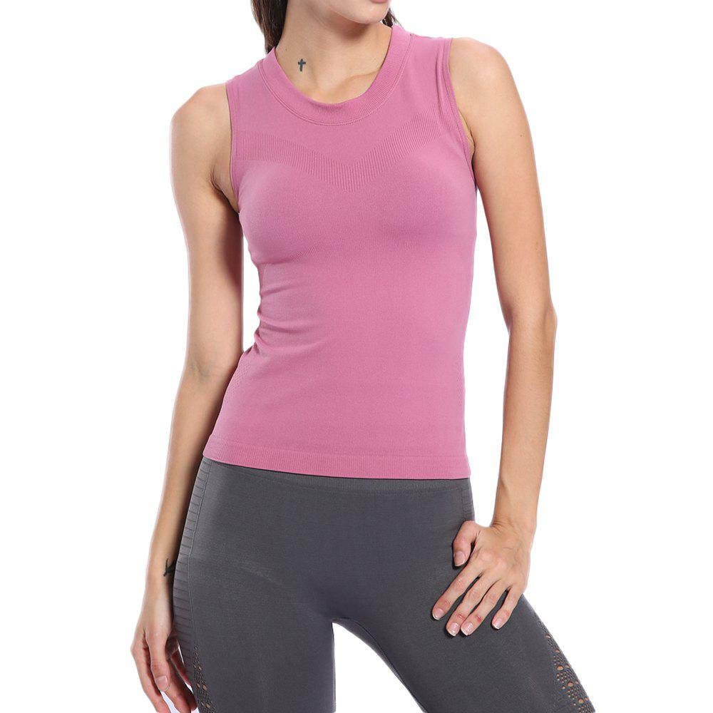 New Women Solid Tight Sports Yoga Sleeveless Breathable Tank Top Gym  Fitness Vest
