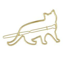 Gold Silver Animal Cat Hairgrips -